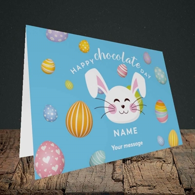 Picture of Chocolate Day, (Without Photo) Easter Design, Landscape Greetings Card