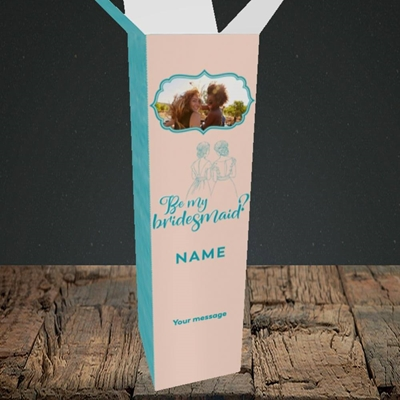 Picture of Be My Bridesmaid, Wedding Design, Upright Bottle Box