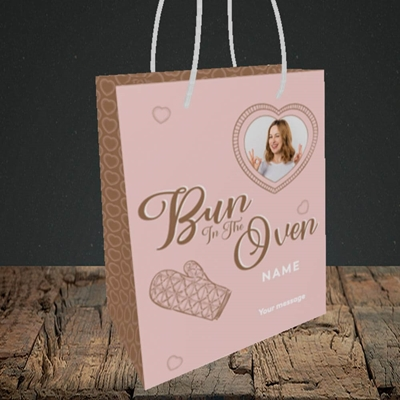 Picture of Bun In The Oven, Pregnancy Design, Small portrait Gift Bag