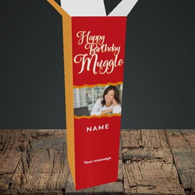 Picture of Muggle, Birthday Design, Upright Bottle Box
