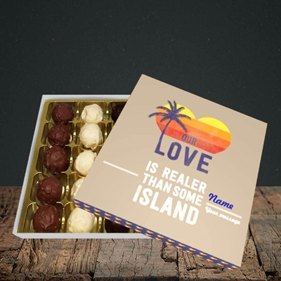 Picture of Our Love Is Realer(Without Photo), Valentine's Design, Choc 25