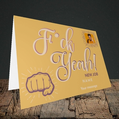 Picture of F*ck Yeah!, New Job Design, Landscape Greetings Card