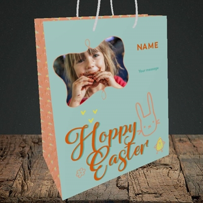 Picture of Hoppy Easter, Easter Design, Medium Portrait Gift Bag