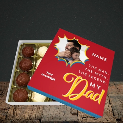 Picture of Man, Myth, Legend, Father's Day Design, Choc 16
