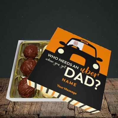Picture of Uber Dad, Father's Day Design, Choc 9