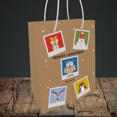 Picture of Animal Polaroid(Without Photo), Christmas Design, Small Portrait Gift Bag