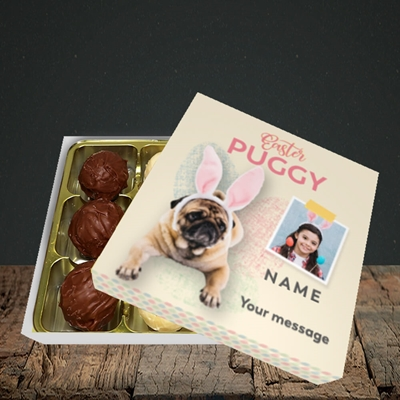 Picture of Easter Puggy, Easter Design, Choc 9