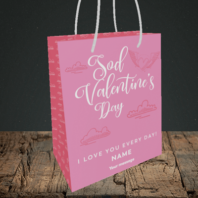 Picture of Sod Valentine's Day, (Without Photo) Valentine's Design, Small Portrait Gift Bag