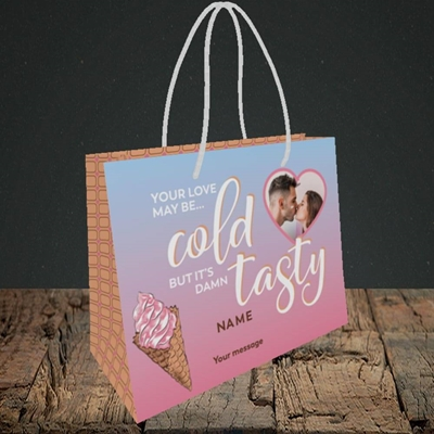 Picture of Cold But Tasty, Valentine's Design, Small Landscape Gift Bag