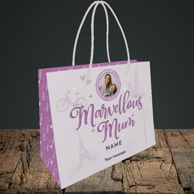 Picture of Marvellous Mum, Mother's Day Design, Small Landscape Gift Bag