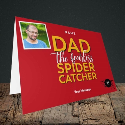 Picture of Spider Catcher, Father's Day Design, Landscape Greetings Card