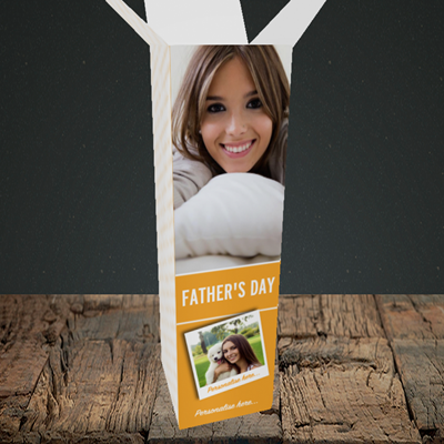 Picture of Photo, Father's Day Design, Upright Bottle Box