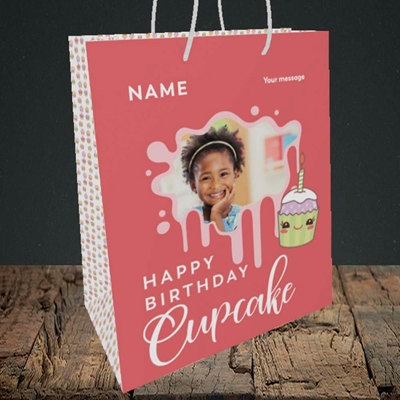 Picture of Cupcake, Birthday Design, Medium Portrait Gift Bag