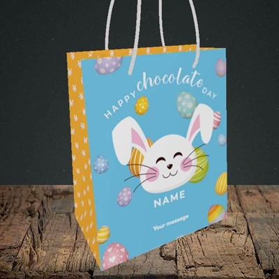 Picture of Chocolate Day, (Without Photo) Easter Design, Small Portrait Gift Bag