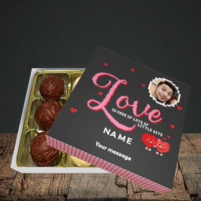 Picture of Love Bits, Valentine's Design, Choc 9