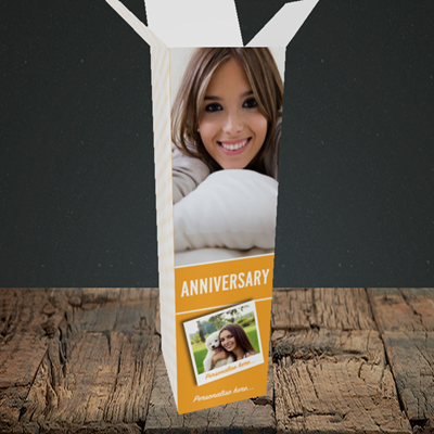 Picture of Photo, Anniversary Design, Upright Bottle Box