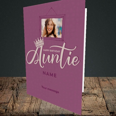 Picture of Auntie (Crown), Birthday Design, Portrait Greetings Card