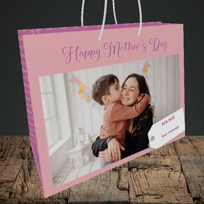 Picture of 1. Large Photo, Mother's Day Design, Medium Landscape Gift Bag