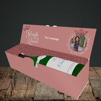 Picture of Sleigh Me Queen, Christmas Design, Lay-down Bottle Box