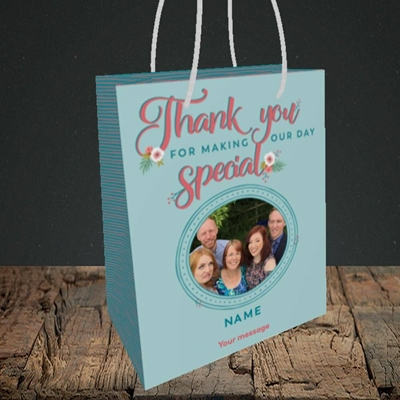 Picture of Thank You, Wedding Design, Small Portrait Gift Bag