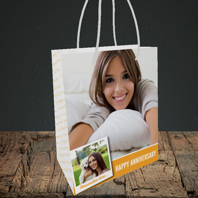 Picture of Photo, Anniversary Design, Small Portrait Gift Bag