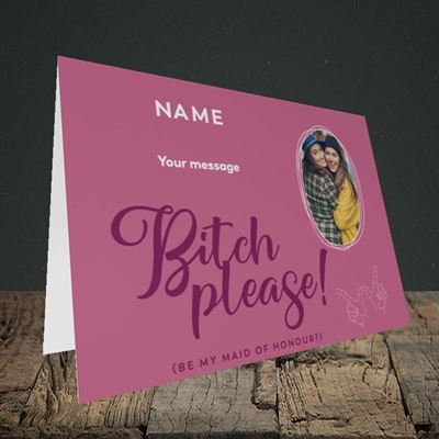 Picture of Bitch Please!, Wedding Design, Landscape Greetings Card