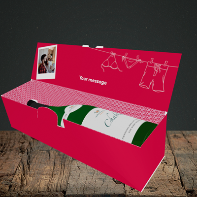Picture of Love Island Reject, Valentine's Design, Lay-down Bottle Box