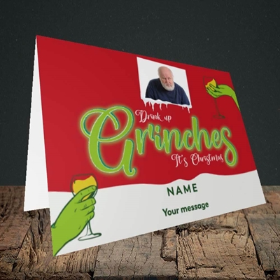 Picture of Drink Up Grinches, Christmas Design, Landscape Greetings Card