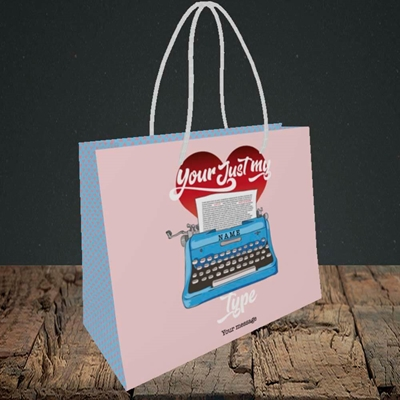 Picture of Just My Type(Without Photo), Valentine's Design, Small Landscape Gift Bag
