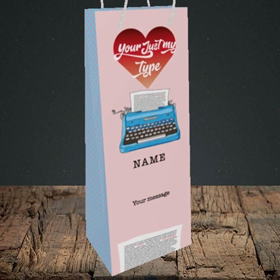Picture of Just My Type(Without Photo), Valentine's Design, Bottle Bag