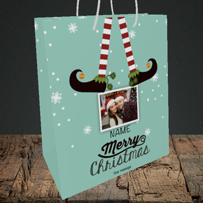 Picture of Elf, Christmas Design, Medium Portrait Gift Bag