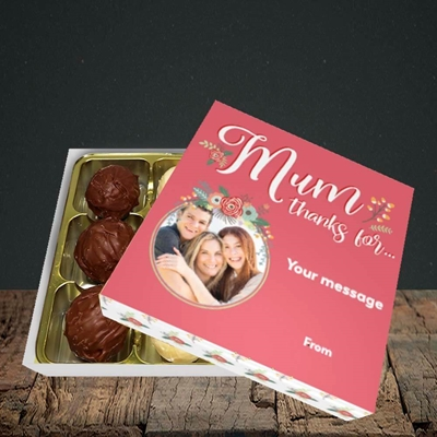 Picture of Mum Thanks For..., Mother's Day Design, Choc 9
