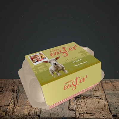 Picture of Lamb To See You, Easter Design, 6 Egg Box