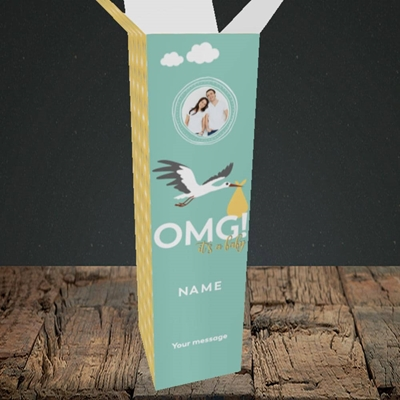 Picture of OMG! It's a Baby, New Baby Design, Upright Bottle Box