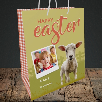 Picture of Lamb To See You, Easter Design, Medium Portrait Gift Bag