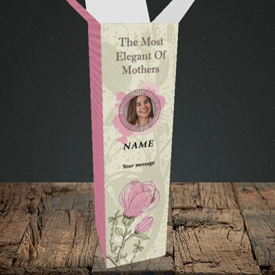 Picture of Elegant Mothers, Mother's Day Design, Upright Bottle Box