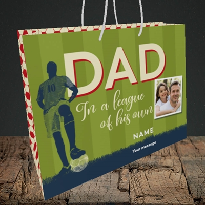 Picture of League Of His Own, Father's Day Design, Medium Landscape Gift Bag