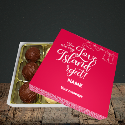 Picture of Love Island Reject, (Without Photo) Valentine Design, Choc 9