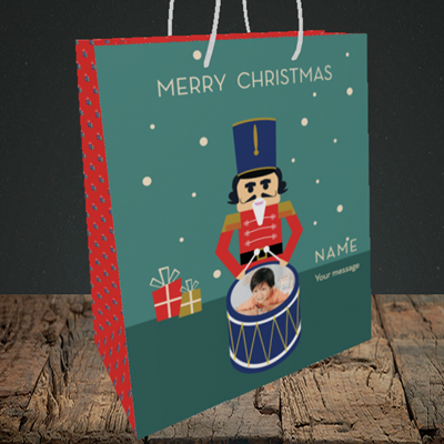 Picture of Drummer Boy, Christmas Design, Medium Portrait Gift Bag