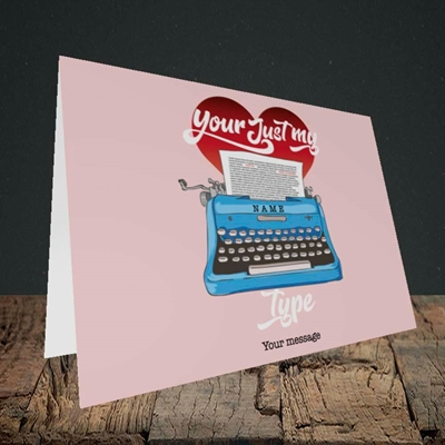 Picture of Just My Type(Without Photo), Valentine's Design, Landscape Greetings Card
