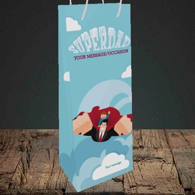 Picture of Superdad,(Without Photo) Father's Day Design, Bottle Bag