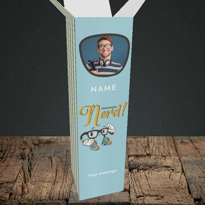 Picture of Graduation Nerd, Graduation Design, Upright Bottle Box