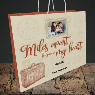 Picture of Miles Apart, Thinking of You Design, Medium Landscape Gift Bag