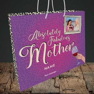 Picture of Absolutely Fabulous, Mother's Day Design, Medium Landscape Gift Bag