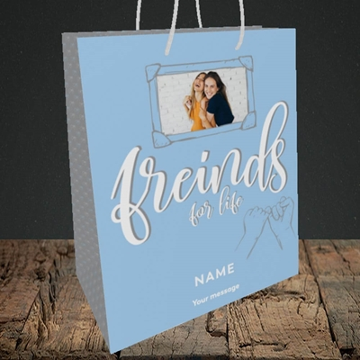Picture of Friends For Life, Thinking of You Design, Medium Portrait Gift Bag