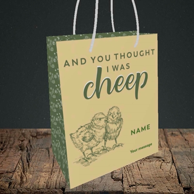 Picture of Cheep, (Without Photo) Easter Design, Small Portrait Gift Bag