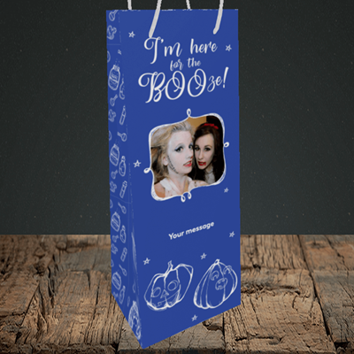 Picture of Boo, Halloween Design, Bottle Bag