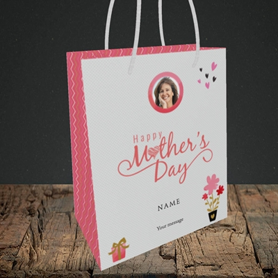 Picture of Happy Mother's Day Gifts, Small Portrait Gift Bag