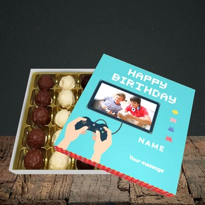 Picture of Space Invaders, Birthday Design, Choc 25