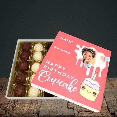 Picture of Cupcake, Birthday Design, Choc 25